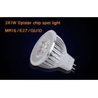 Buy cheap Dimmable MR16 3 * 1W  LED Spotlight Bulbs With Epistar , Warm White LED Light from wholesalers