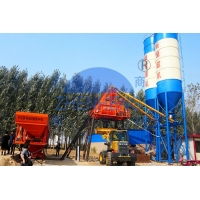Wholesale HZS50 Stationary Concrete Batching Plant With 3.8m Discharging Height And 12 Months Warranty from china suppliers