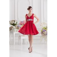 Buy cheap Red Spaghetti Straps Ruffle Mother Of Bride Gown With Sequins Sash from wholesalers