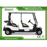 Buy cheap 25 Km / H 4 Seater 48V Electronic Golf Carts White Color ADC Separately Motor from wholesalers
