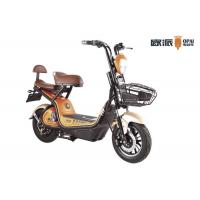 Buy cheap 48V12AH Electric Moped Scooter 450W  Small Backrest Front Shopping Basket Scooter LCD Speedmeter from wholesalers