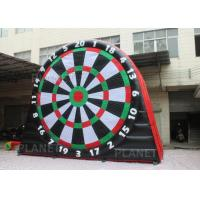 Buy cheap 5mH Interactive Inflatable Sports Games Blow Up Soccer Dart Board With Velcro product