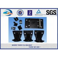 Buy cheap 2 / 4 / 6 / 8 Holes High Tensile Strength Plain Rail Tie Plate Rail Base Plate from wholesalers