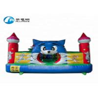 Buy cheap top sales inflatable  bouncing castle, blue cat paradise inflatable castle, mini-inflatable bouncer for backyard from wholesalers