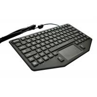 Buy cheap Vehicle Panel Mount Keyboard With Touch Mouse / Red Illumination Waterproof from wholesalers