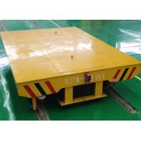 Buy cheap Concrete factory floor flatbed rail car with turning system from wholesalers