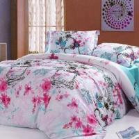 Buy cheap 4pcs Printed Bedding Set, Made of Cotton, with Floral Design from wholesalers