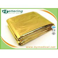 Buy cheap Waterproo Foil Survival Blanket , Thermal Rescue Blanket Golden / Silver Colour from wholesalers