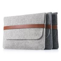 Wholesale Factory price mac book pro felt laptop briefcase bag. size is  a4. 3mm microfiber material from china suppliers