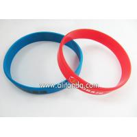 Buy cheap Custom silicone sport wrist band can add logo words with existing mold from wholesalers