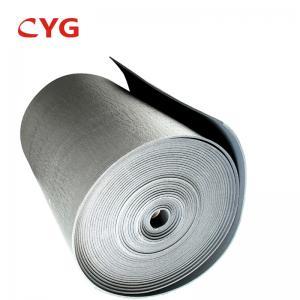 China B1 Grade Flammability HVAC Insulation Foam Closed Cell Aluminum Foil Laminated Roll on sale