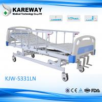 Durability Manual Hospital Bed Zinc Coated Spring Deck With Medical Mattress Options