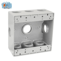 Buy cheap Two Gang Aluminum Waterproof Electrical Outlet Box from wholesalers