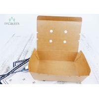 Quality Venting Paper Takeaway Boxes With Degassing Holes For Hot Take Out Food for sale