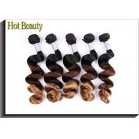 Buy cheap 8A Grade 3 Tone Colored Human Hair Extensions 10-30 Tangle Free from wholesalers