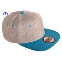Wholesale Custom Two-Tone Wool Blend Snapback Snap Back Blank Hat Baseball Cap from china suppliers