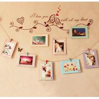 Buy cheap 6 Inch Creative Gift Home Decoration DIY Butterfly Wall Hanging Paper Photo Frames + Rope from wholesalers