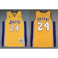 Wholesale Men'S Los Angeles Lakers #24 Kobe Bryant Gold Mitchell & Ness Hardwood Classics 2008-09 Finals Champions Jersey from china suppliers