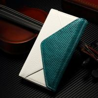 Envelope Style IPhone Leather Wallet Case Soft Contrast Color For Iphone 7
