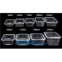 Buy cheap Microwave lunch bento box Eco-friendly 700ml disposable plastic pp food storage containers food take away packaging box from wholesalers