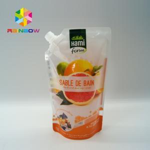 BPA Free Plastic Packaging Bag Ziplock Reusable Drink / Water Food Containers Manufactures