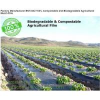 Buy cheap Factory Manufacturer EN13432 100% Compostable and biodegradable Agricultural Mulch film, starch plant based wrap film pa from wholesalers