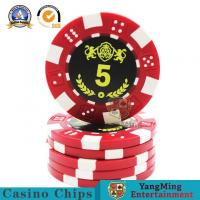 Buy cheap Durable Plastic UV Light Casino Poker Chips High - Temperature Bronzing from wholesalers