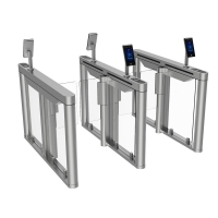 Buy cheap RFID 304 Stainless Steel Face Recognition Turnstile Gate Systems from wholesalers