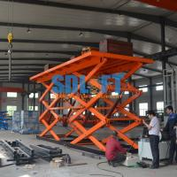 Buy cheap 12T 6M Double Scissor Lift Table Hydraulic goods lift platform with CE from wholesalers