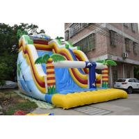Buy cheap 0.55mm PVC Tarpaulin Inflatable Wide Wave Slide Blow Up Arch Fireproof UV Protective from wholesalers
