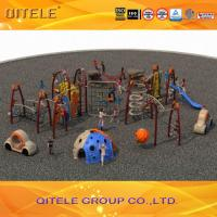 Buy cheap Safety Performance Kids Outdoor Gym Equipment Rock Climber And Tunnel Slide product