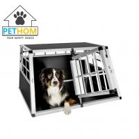 Buy cheap ALUMINUM Double door Dog Cage Transport Car Travel Cage Box ZX896A1 from wholesalers