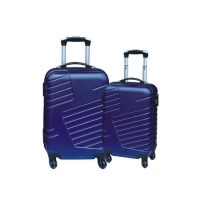 Wholesale Steel Trolley ODM Spinner ABS PC Luggage With Push Button from china suppliers