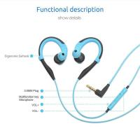 Buy cheap PISEN 1.5m 4.9ft Cable Shock Proof Anti Drop Sweat Resistant In-Ear Wired Sport Earphone With Mic for iPhone from wholesalers