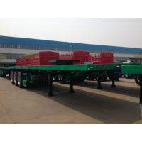Buy cheap CIMC 40 Tons Cargo Flatbed Container Trailer Small Commercial Tri - Axle from wholesalers
