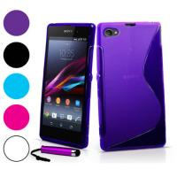 Buy cheap For Xperia Z1 Compact Case, 2014 New Mobile Phone bag, S Line Soft TPU Gel Skin Cover Case For Sony Xperia Z1 Compact from wholesalers