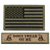 Quality Custom Military Embroidered Badges / Twill Fabric Velcro Hat Patches for sale
