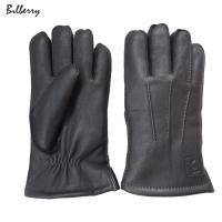 Buy cheap Deerskin Fur Lined Mens Soft Leather Gloves Classic Hand Sewing Stitching from wholesalers