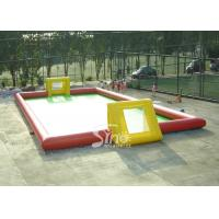 Buy cheap Adult N children giant interesting water inflatable football field for outdoor games from wholesalers