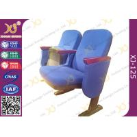 Buy cheap Commercial Level Church Auditorium Seating Floor Fixed Low Back Church Chair from wholesalers