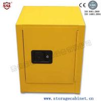 Stainless Steel Iron Coated Flammable Yellow Powder  Chemical Storage Cabinets For Laboratory  /  Bench Top Manufactures