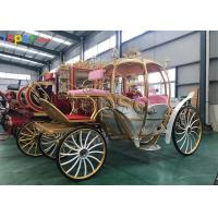 Buy cheap Metallic Artwork Horse Drawn Pumpkin Carriage Hydraulic Brake For Tourism Spots from wholesalers