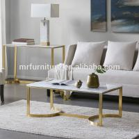 Buy cheap High quality hotel Madison Park Antonio Marble Table Stainless Steel Coffee Side End Table from wholesalers