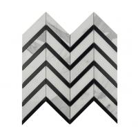 Buy cheap Black and White Marble Mosaic Tiles for Outdoor Floor Decoration from wholesalers
