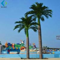 Wholesale Fiberglass Trunk Artificial Palm Trees Large Size For Theme Park Decoration from china suppliers