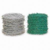 Wholesale Barbed Iron Wire, Made of Low Carbon Steel and PVC, Comes in Various Colors from china suppliers