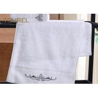 China 16s High Quality Hotel Bath Towels With Colorful  Embroidery Logo on sale