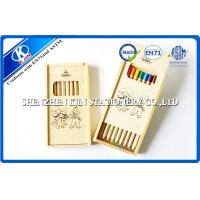 Logo Printing Wooden Case Colored Pencils Set / Sketching Prismacolor Coloured Pencils Manufactures