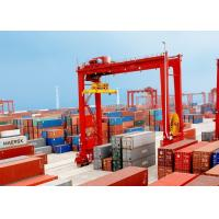 Buy cheap Loading And Unloading Container Lifting Crane , RMG Rail Mounted Gantry Crane from wholesalers