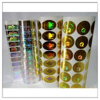 Buy cheap Adhesive Holographic label / Holographic adhesive sticker,custom holographic label with own logo from wholesalers